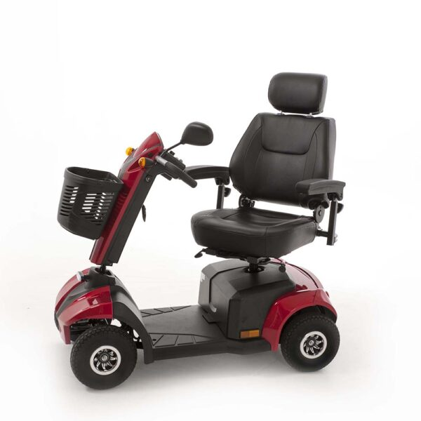 Red Mobility Scooter Side