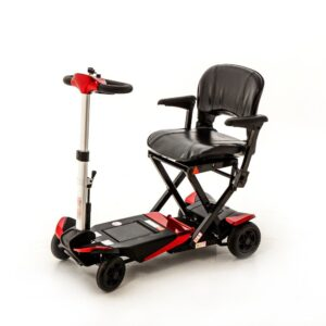 Red Folding Mobility Scooter