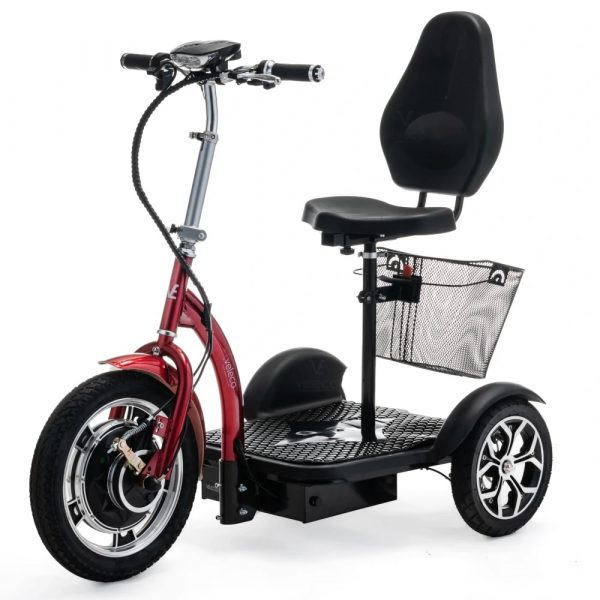 Red Compact Mobility Scooter