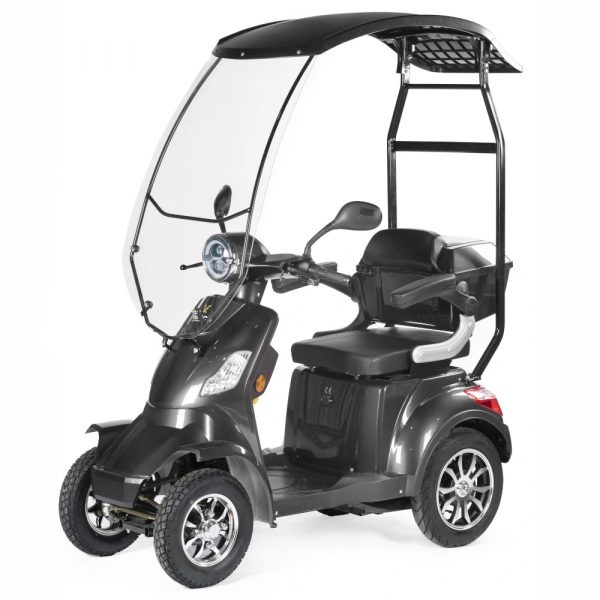 Large Grey Scooter with Canopy