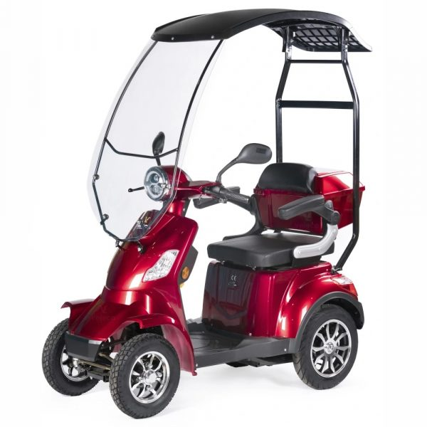 Large Red Scooter With Canopy