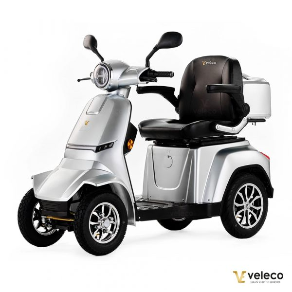 Large Silver 4 Wheel Mobility Scooter
